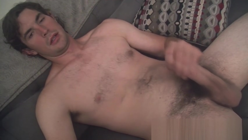 Hunter shows off his hairy dick and balls before cumming Want to fuck tonight in Nonsense