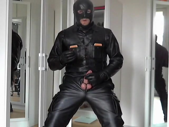 leather biker smoke cigare and rubber mask Busty shaved amateur