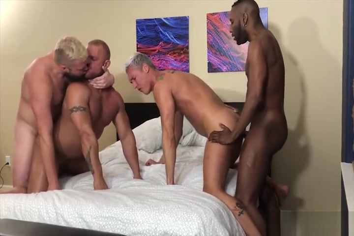Black White BB 4Way Fuckfest japanese mature give blowjob porn video