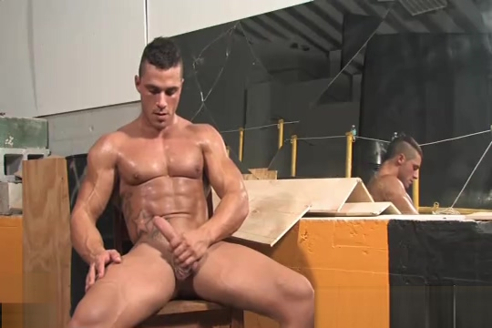 Joey Van Damme - Powermen flex, stroke and shower Beautiful big tits black solo gay