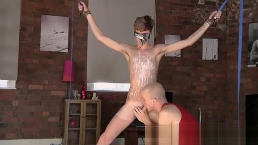 Clay pit bondage gay porn Kieron Knight enjoys to suck the steaming jism college soroity sex party slut load
