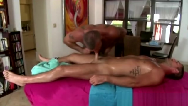 Straight guy gets oiled up during massage Atkmodels hairy