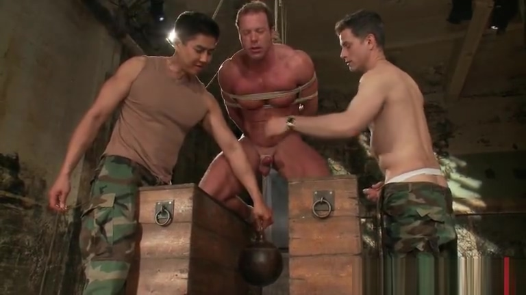 Buffed dude blindfolded and bound gay part6 Threesome images