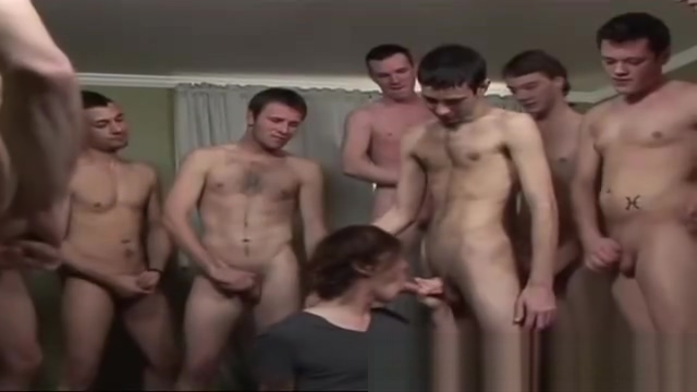 Horny bukkake boys get sucked off big tits that fuck doggy style
