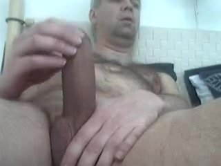 Big dicked mature man shoots a load of cum titanium clip in breast