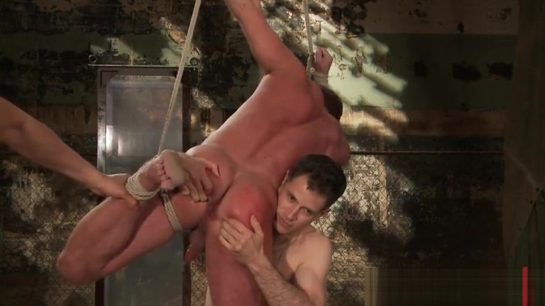 Muscled guy strung and hung gay BDSM part4 Fucking Her Best