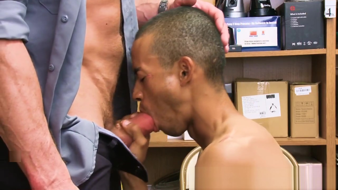 Sucking ebony shoplifter gets jizzed Pussy Fuck In Office