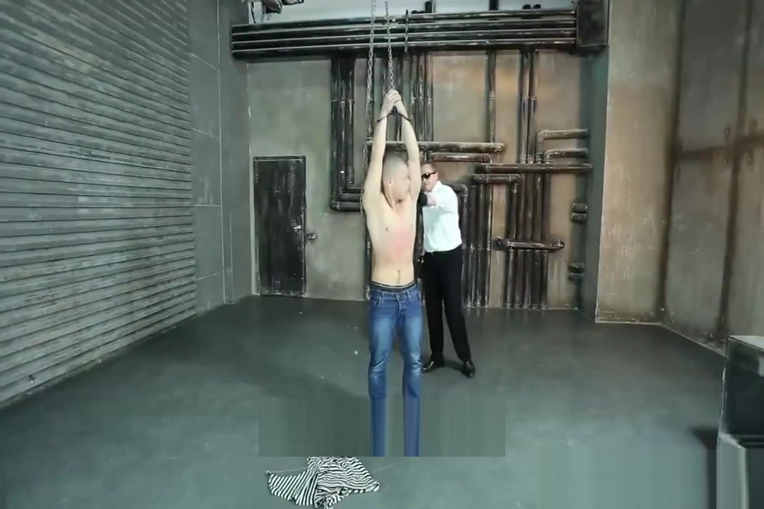 Chained Gutpunched Russian White sock porn pic