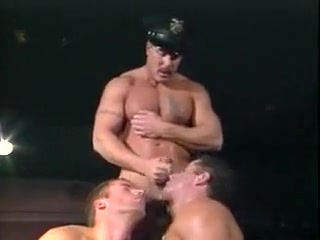 Police Man with Two Men Tied up girl christmas naked