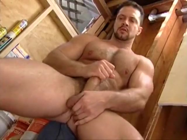 Hot muscle bear jacks off male anal sex toy video trailers