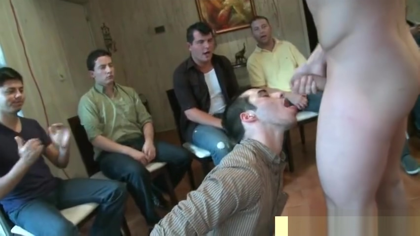 Group of horny gay men sucking sausage part5 Glasses office