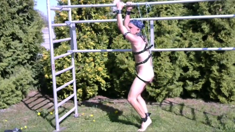 naked slave BDSM CBT outdoor in slaveharness What to do when you find out you are hookup a married man