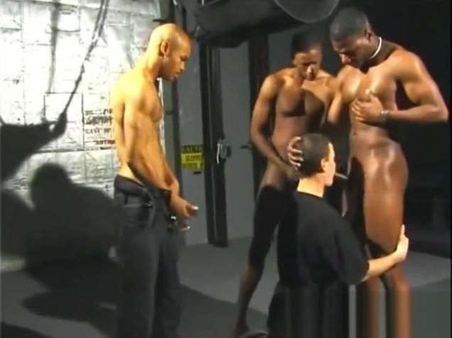 Hot black guys destroys white butt Asian Oragame