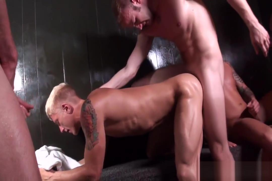Too Hot In The Sauna Black twink models