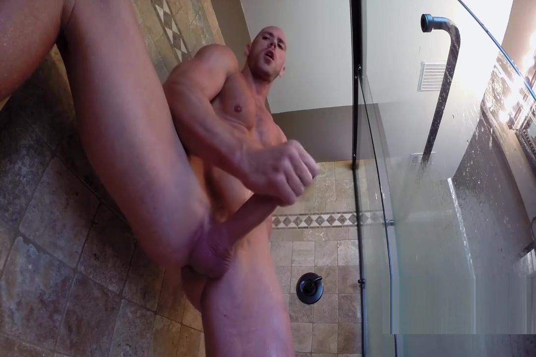 Johnny jerks off in the shower He man gay porn