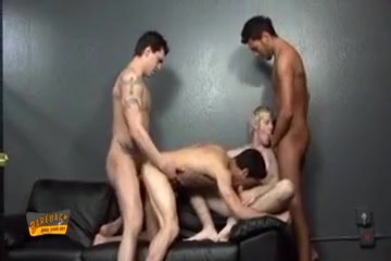 Nasty guy strokes his dick and gives a head Femdom girls beating up boys
