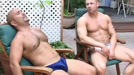 Hot gay bears drive each other mad strip poker world championship