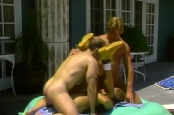 Hot gay threesome by the swimming pool part5 Anal sex instructional free video