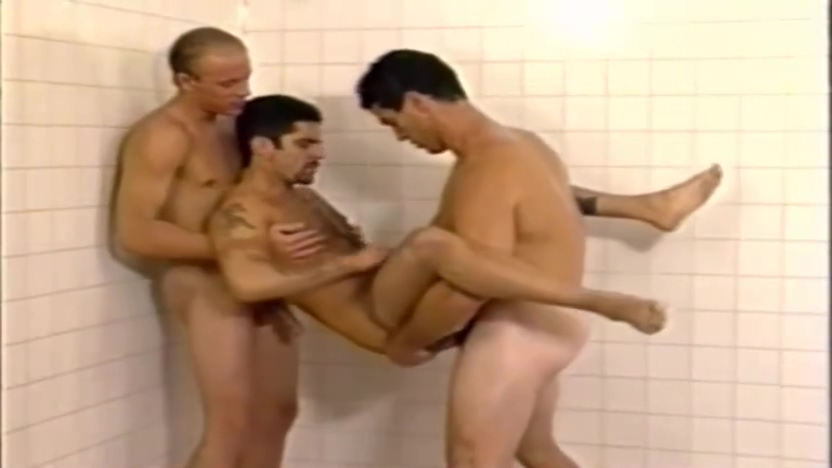 Paul Carrigan and Anthony Mengettin in Shower Threesome Can you handle me joi