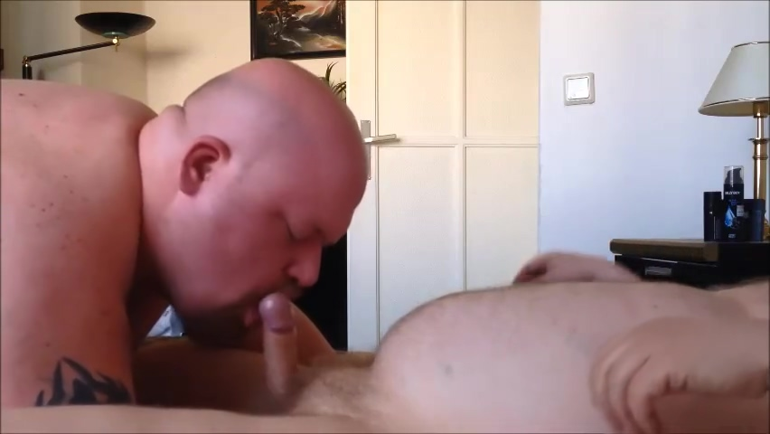 Blowjob to a Bear 40 inch tits wife
