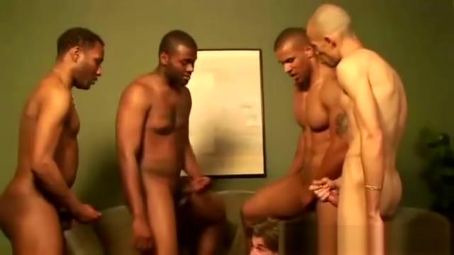 White guy gets fucked by ebony cock cum on him Asian busty cum shot