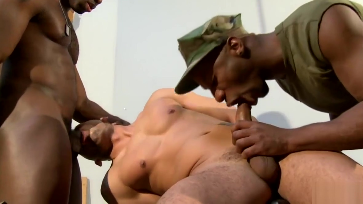 Ebony duo assfucking and tugging cocks Fitness pro13
