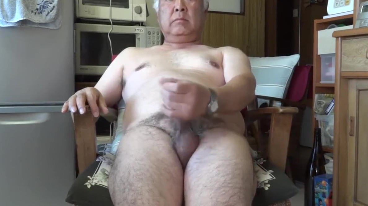 Japanese old man masturbation Ejaculation in the kitchen sore throat green mucus