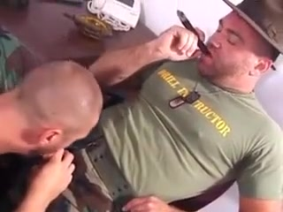Sergeant and his Army Bear Big boobs big cock sex