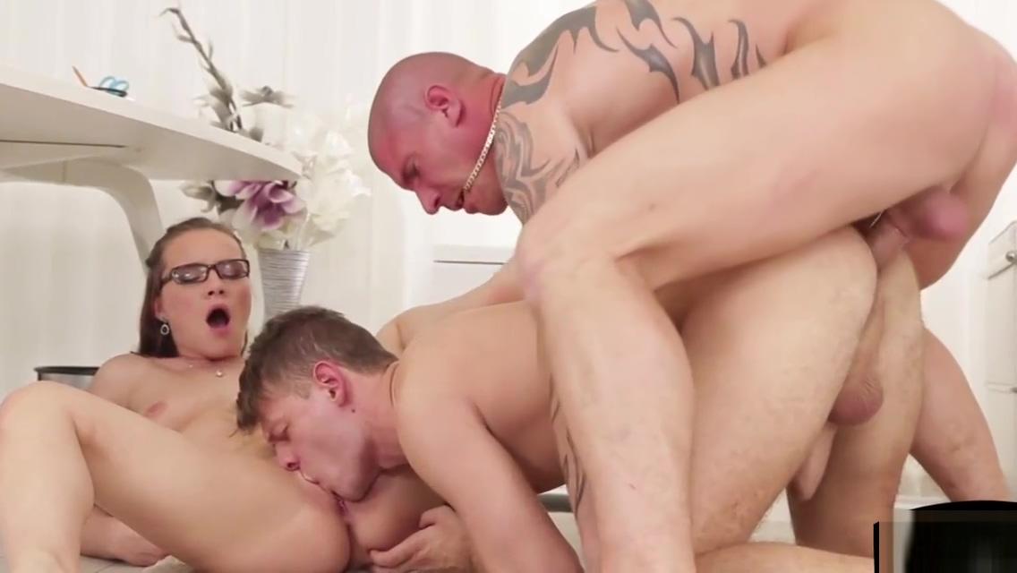 Bi stud shares cock with european beauty Cum eatting addict slut