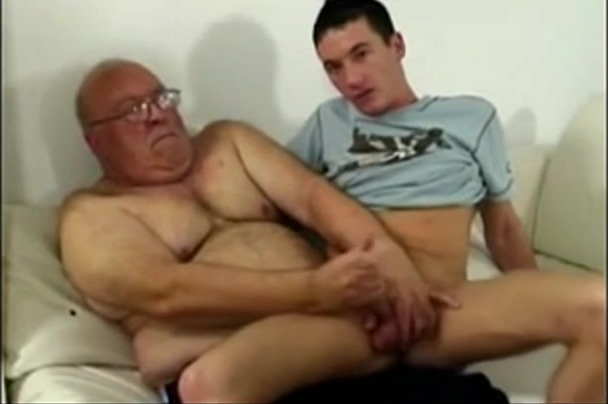 Grandpa and Young Guy Cum on bbw undies