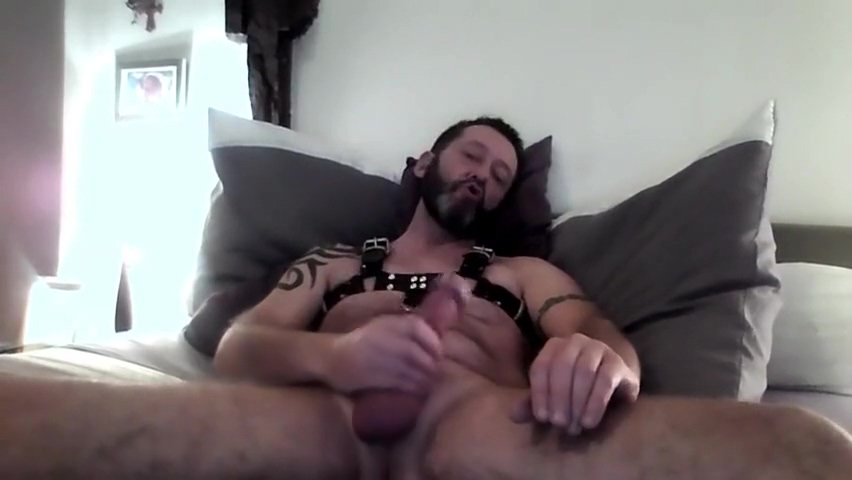 MAXIMUS JERK OFF IN LEATHER HARNESS Attractive bbw for hot fit male in Santiago