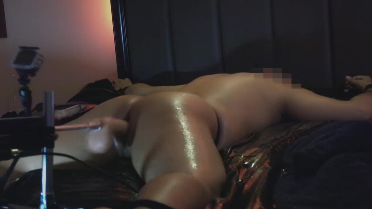 Self Bondage with Fucking Machine and Nuru Gel homemade sex video free