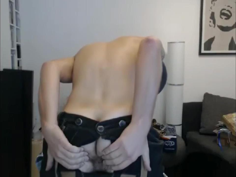 Magnus Satyr drink beer Ass blonde shaved