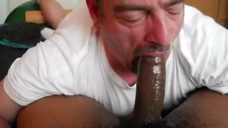 Thick, lengthy dark jock sucked by bawdy cleft face hole Domination penis insertion