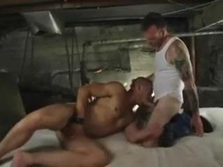 in the cellar Male stripper takes it too far