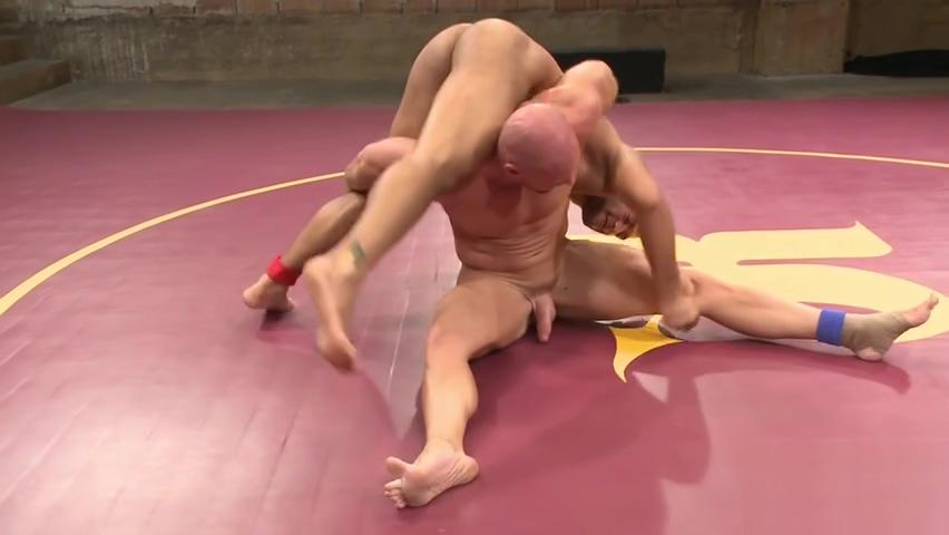 Bald wrestler jock getting pinned Yoga Boy Cheat