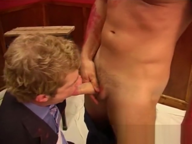 MAP Painter gives bound young executive a mouthful. Big pussy milf big dildo