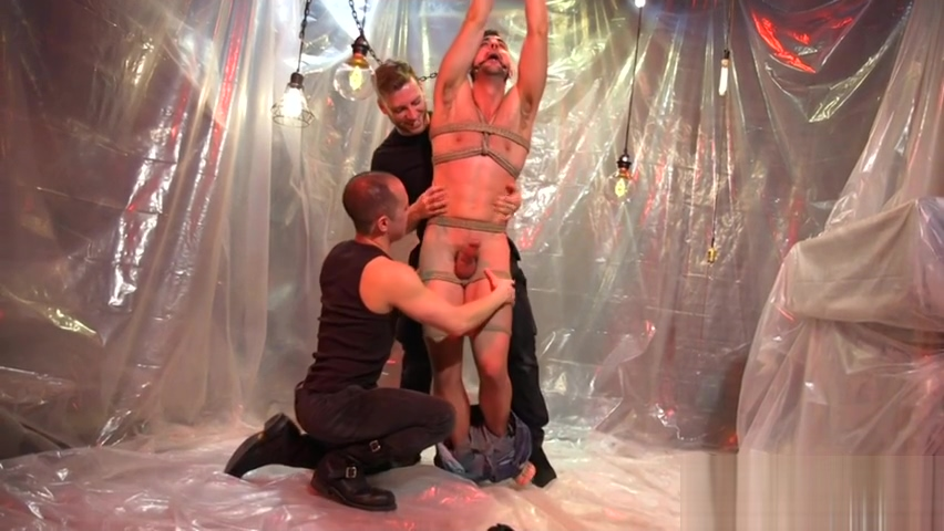 Suspended stud edged during gagging and BDSM Ayana angel in the gloryhole