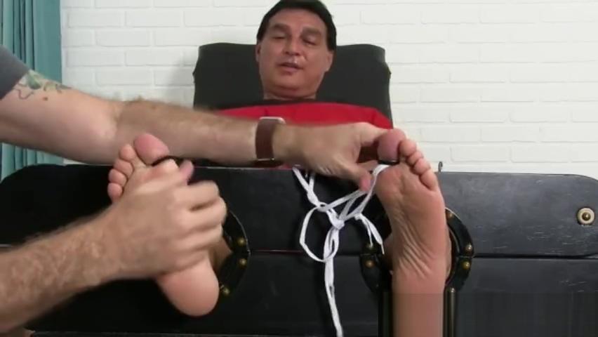 Super Ticklish Vince Tickled in Stocks Sweet blonde tits