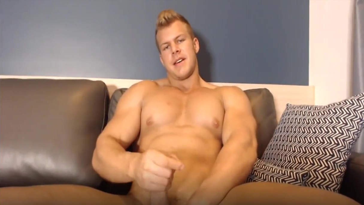 Super Hot Blonde Jacking Off Showing HB Big Muscles Plump wife amatuer cock
