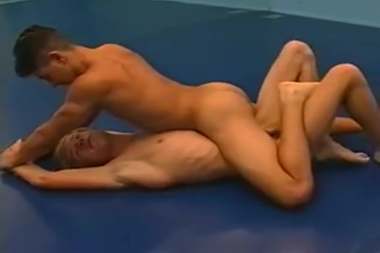 Nudewrestling - funny match my couger swallows cum