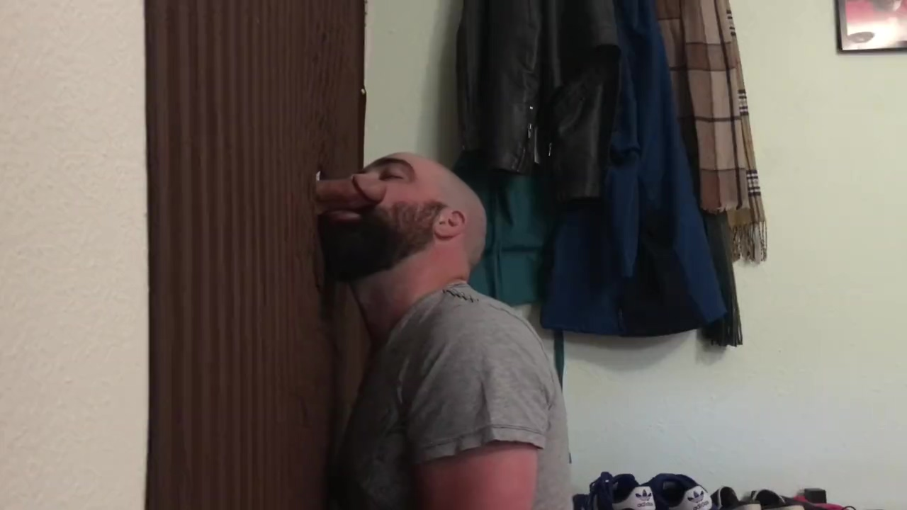 Straight married guy feeding me at my homemade glory hole Christy Cannon