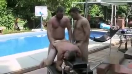 Poolside Sling Sex Passed out sister fucked