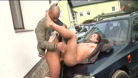 Skinhead barebacks stranger on the street Girl And Girl Sex Milk