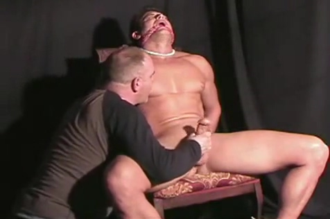 Michael bound gaged and jerked off Beautiful darling receives sexy pussy hammering
