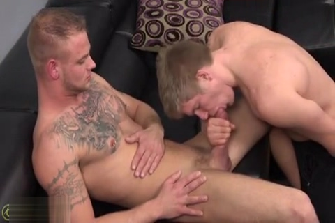 Two Blonds Guys in Blow Jobs Nude woman animated gif