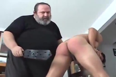 Very hot guy spanked fat man bathing suit