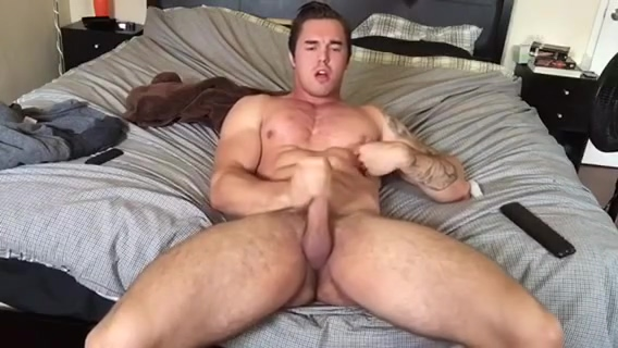 Young STUD jerks off for YOU. Hpw to make a easy sex toy for men