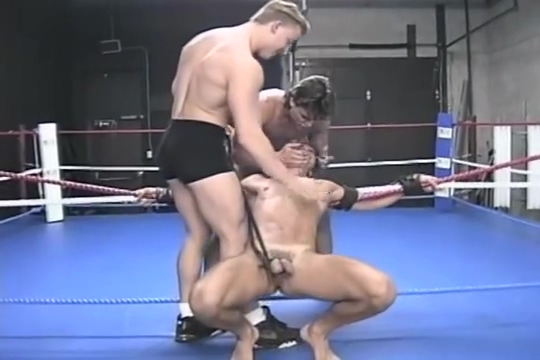 Retro Hog Tied Wrestling Naked sexy hot cops