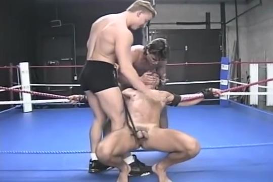 Retro Hog Tied Wrestling flashing boob at beach